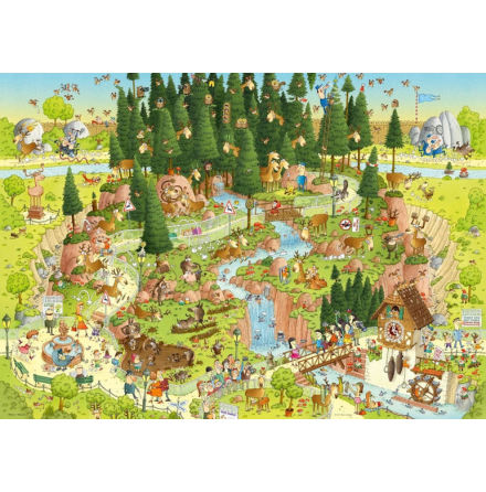Funky Zoo: Black Forest Habitat (1000 pieces)