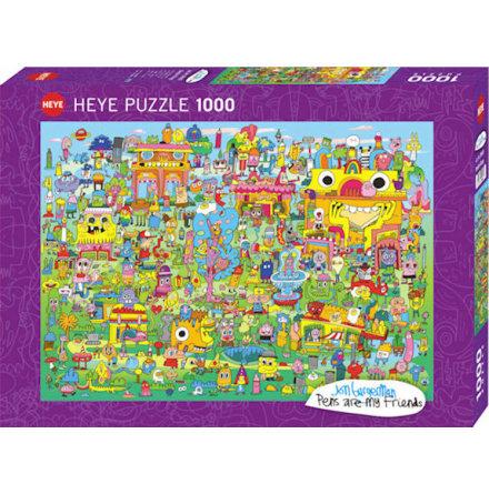 Pens are my Friends: Doodle Village (1000 pieces)