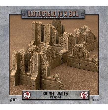Gothic Battlefields - Walls - Sandstone (x1) - 30mm