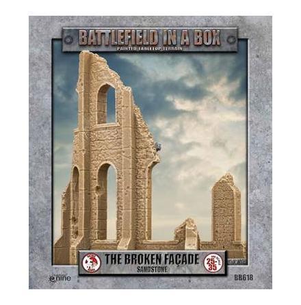 Gothic Battlefields - Broken Façade - Sandstone (x2) 30mm
