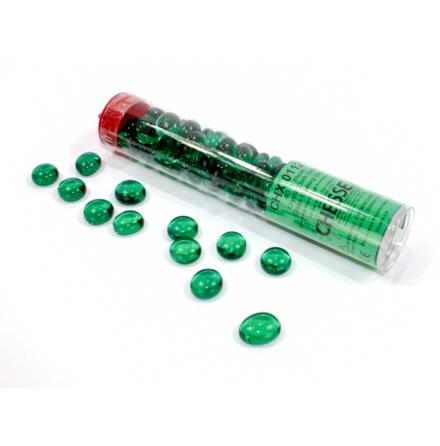 Crystal Dark Green Glass Stones (Qty 40) in 4 inch Tube