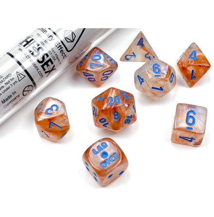 Borealis® Polyhedral Rose Gold/light blue Luminary™ 7-Die Set Release October